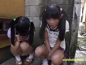 2 Young Japanese Girls Suck Cock Feat pee fart