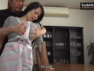 (ENG SUB) GIANT BOOBS HITOMI HOT SEX WITH CLOTHES ON