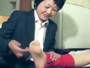 asian sweet nylon feet tickled 2