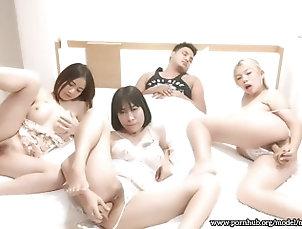 Three Asian girls masturbation