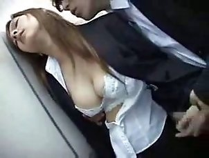 Drunk Businesswoman abused after Party Part 2 (asian japanese japan )