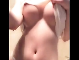 Chinese girl taking shower