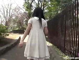 Runa Kobayashi go for a walk with sex-toy inside pussy UNCEN