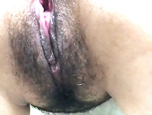 Hawaii Playing with Hairy Asian Pussy